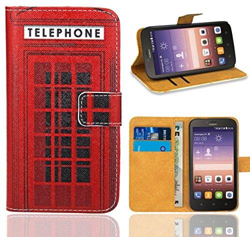 Huawei Y625 Handy Tasche, FoneExpert® Wallet Hülle Flip Cover Hüllen Etui Ledertasche Lederhülle Premium Schutzhülle für Huawei Y625 (Pattern 12)