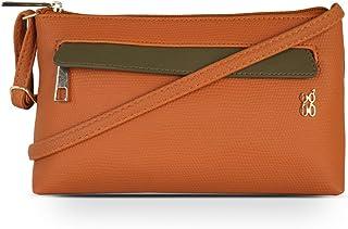 Baggit Spring-Summer 2021 Faux Leather Women's Satchel Bag (Orange) (Locksy)