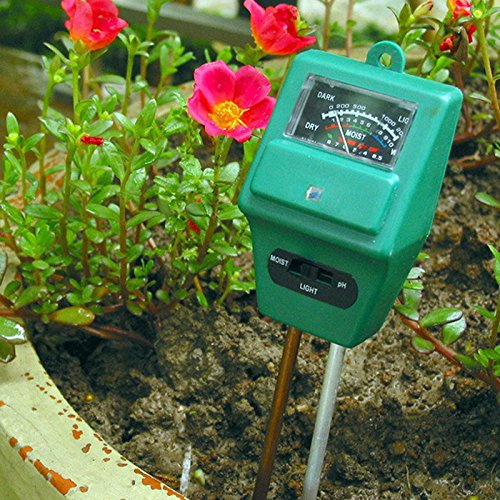 For Sale! Grandey 3 in 1 Soil PH Meter Flower Pot Hygrometer Soil Tester Plants Growth Moisture Ligh...