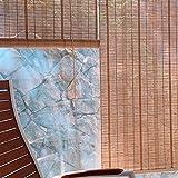 Persianas enrollables Persianas Enrollables de Bambú para Ventanas, Persianas Enrollables para Pérgola de Patio al Aire Libre, Persianas Enrollables Naturales con 60% de Sombreado