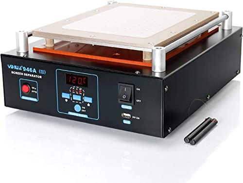 """lowest YIHUA 946A-III Digital LCD Screen Separator 5V popular 2A USB Power Supply with Built-in Long-Lasting Vacuum Pump for Mobile Ipad °F /°C (Aluminum Panel Size: 28cm x 22cm /11"""" 2021 x 8.7"""" ±0.05) online sale"""