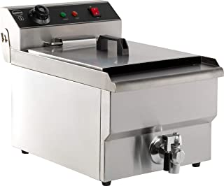 Friteuse électrique pro - 8 litres avec robinet de vidange - Combisteel -