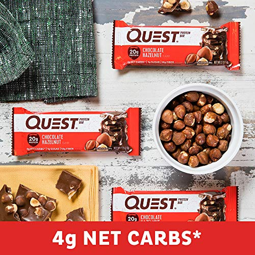 Quest Nutrition Chocolate Hazelnut Protein Bar, High Protein, Low Carb, Gluten Free, 12 Count 9