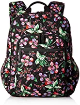 Vera Bradley Women's Signature Cotton Campus Backpack, Winter Berry, One Size