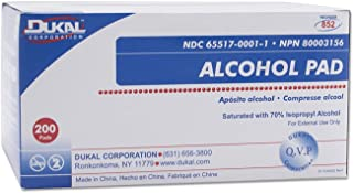 Dukal Alcohol Pads, White, 200 Count