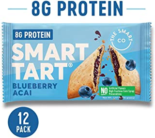 Smart Tart Protein Toaster Pastries | 8g Protein Breakfast Snack | Low Net Carb Low Sugar Baked Pastry | All Natural No Artificial Flavors | Blueberry Acai, 12 Count Box