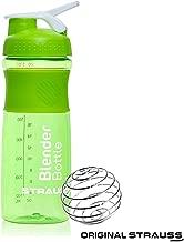 Strauss Blender Shaker Bottle 760ml, (Green) Ã'
