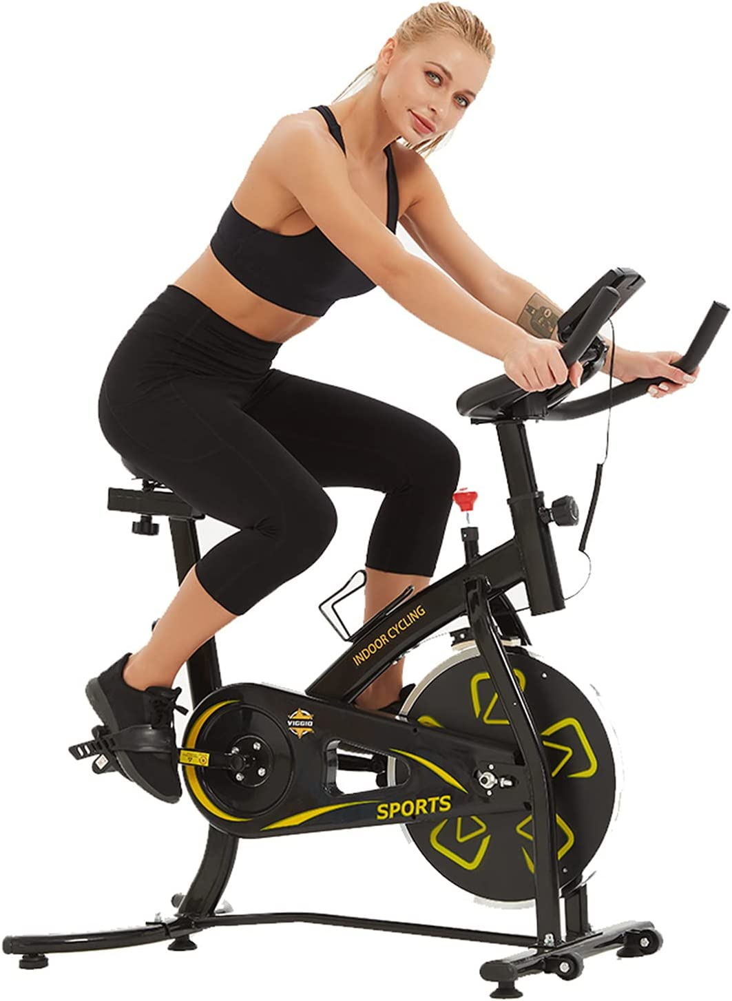 Indoor Cycling Bikes Stationary Translated Sale item Exercise Bike Flywhe 35lbs with