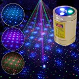 Mini Laser Lights, Chims RGB Star Points Laser Show DJ Party Home Disco Light Portable Cordless USB Rechargeable Music Activated Stage Laser Light for Car Holiday Home School Disco Birthday Gift
