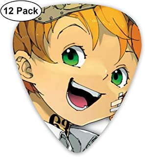 The Promised Neverland Guitar Picks, Unique Guitar Gift For Bass, Electric & Acoustic Guitars Includes 0.46mm, 0.71mm, 0.96mm