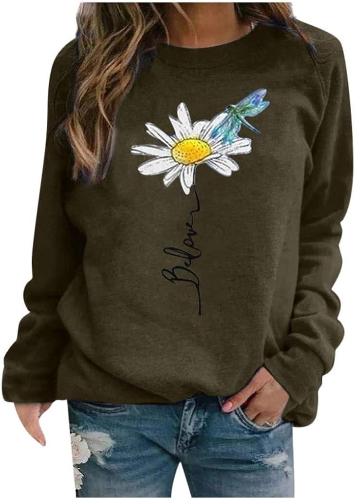 Womens Sweatshirts Clearance,Womens Tops,Womens Hoodie Sweatshirts Casual Tunic Tops Long Sleeve Tie Dye Shirts with Pockets Army Green