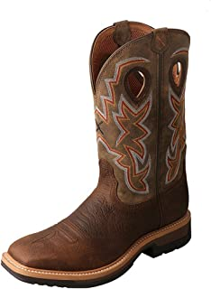 Men's Lite Cowboy Work Boot Soft Square Toe