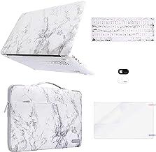MOSISO Compatible con MacBook Air 13(A1369 A1466,versión 2010-2017), Funda de Plástico Rígido&Bolsa de Transporte &Cubiert...