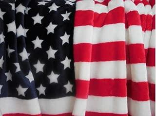 Tommy Hilfiger American Flag Plush Throw Blanket