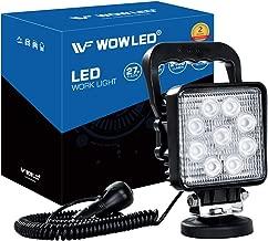 Lámpara LED de la marca WOWLED, de 27W, portátil, lámpara de pie con base magnética para coche, todoterreno, camión, barco, tractor, vehículos de ingeniería, mantenimiento, 9-32 V
