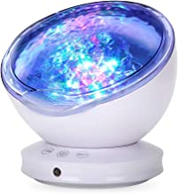 Ocean Wave Projector,2020 Newest 12 LED Night Light Lamp with Remote Control, Timer 8 Lighting Modes Light Show LED Night ...