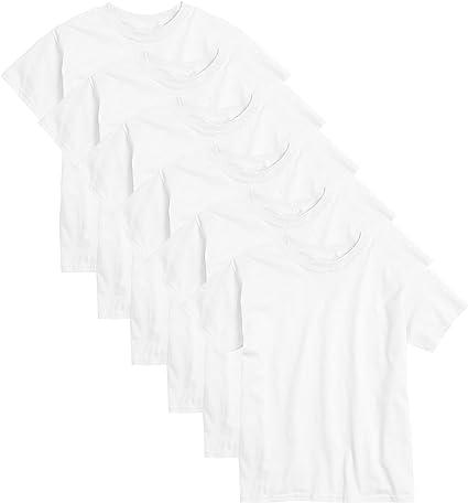 * Kids 18 Pack Cotton Crew Neck T-Shirt Shirt Short Sleeves white 11-12Y  69,5