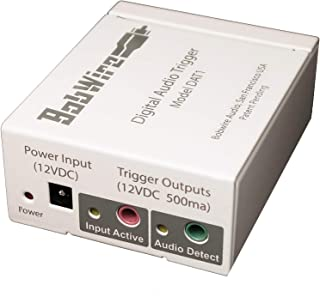 Bobwire Adds a 12V Trigger! Compatible with SONOS Connect, Echo Link, ChromeCast Audio, TV, or any Device with a digital SPDIF Optical Audio Output. Auto Power On Amplifiers & Fans by 12 Volt (DAT1)