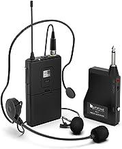 سیستم میکروفون بی سیم، فیبر بی سیم میکروفون با هدست و Lavalier Lamp Mics، فرستنده و گیرنده Beltpack، ایده آل برای تدریس، سخنرانی و برنامه های سخنرانی عمومی (K037B)