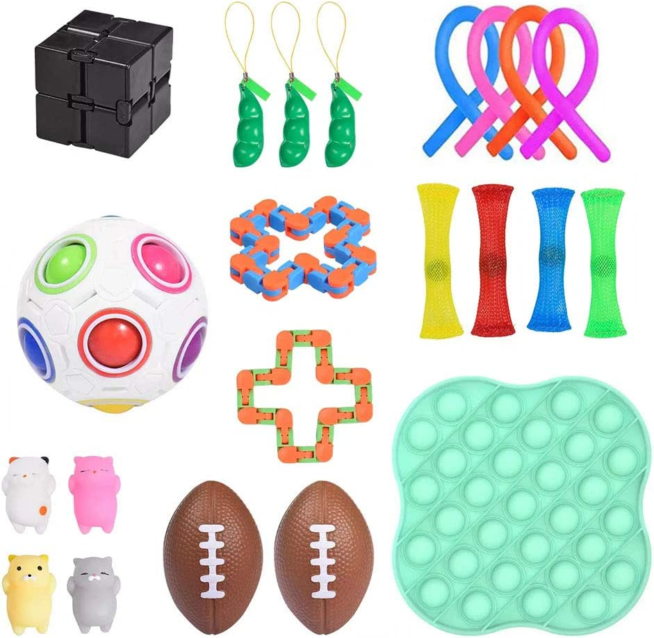 ADHD Relief Hand Toys Special Toys Pack Toy PENGLAI Fidget Sensory Toys Set,20Pcs Kids Adults Relieve Stress,Anti-Anxiety School Classroom Rewards for Birthday Party Favors Gifts