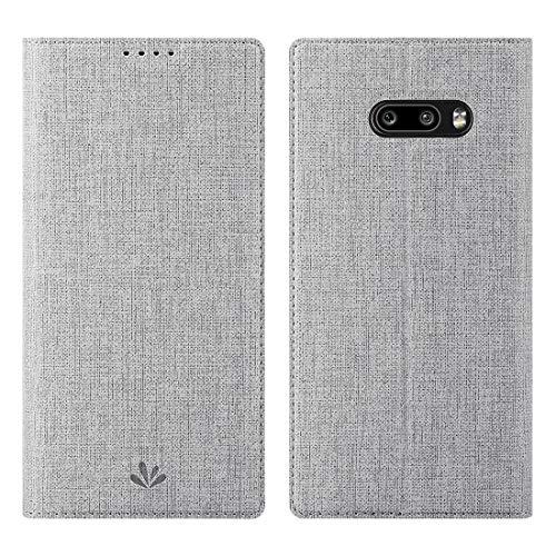 Eastcoo LG G8X ThinQ Hülle Hülle,LG G8X ThinQ Handyhülle,Premium PU Leder Handyhülle Brieftasche-Stil Magnetisch Folio Flip Klapphülle Schutzhülle Cover for LG G8X ThinQ,Grau