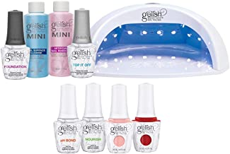 Gelish Pro Kit Salon Professional Gel LED Lamp Soak Off Nail Polish Set, 15 mL