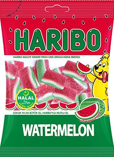 Haribo Wassermelonen Helal Halal Gummibärchen Fruchtgummi,12er Pack (12 x 80 g)