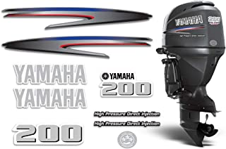 AMR Racing Outboard Engine Graphics Kit Sticker Decal Compatible with Yamaha 200 - HPDI