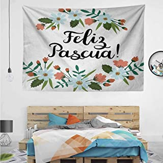 HuaWuChou Feliz Pascua Easter Tapestry, Colorful Wave Tapestry Psychedelic Nature Landscape Tapestry Wall Hanging for Living Room, 36W x 24L Inches