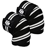 Fit Active Sports Weight Lifting Knee Wraps for Weightlifting, Powerlifting, Gym Workout, Cross Training WODs - Knee...