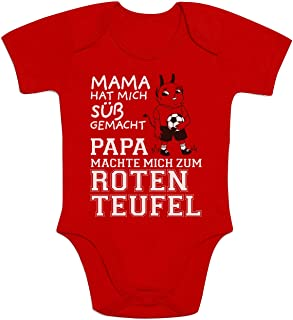 Shirtgeil Kaiserslautern - Papa machte Mich zum Roten Teufel Baby Body Kurzarm-Body