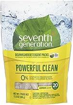 Seventh Generation Plant-based Machine Dishwasher Tablets Lemon, 20 Units