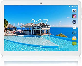 10 inch Android Tablet 4GB RAM 64GB ROM Octa Core with Dual Sim Card Slots - YELLYOUTH 3G Unlocked GSM Phone Tablets with WiFi Bluetooth GPS (Silver)