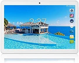 タブレット 10インチ SIMカードスロット付き ‐ YELLYOUTH 10.1インチ クアッドコア 2GB RAM 32GB ROM 3G GSM 通話 アンドロイド タブレットWifi GPS Bluetooth デュアルカメラ (ホワイト)