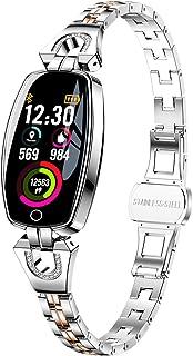 ساعت هوشمند زنانه ، ردیاب تناسب اندام نفیس ، فشار خون / ضربان قلب / مانیتور خواب برای زنان ، نقره