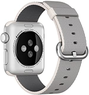 Apple 38mm Woven Nylon Smart Watch Band - Pearl, MM9T2ZM/A