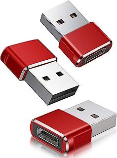 USB CメスからUSBオス変換アダプター 3パック、iPhone 11 12 Mini Pro Maxミニプロマックス、Airpods 3 M1 iPad Air 第4 5世代 2020 2021 13、Samsung Galaxy Note...