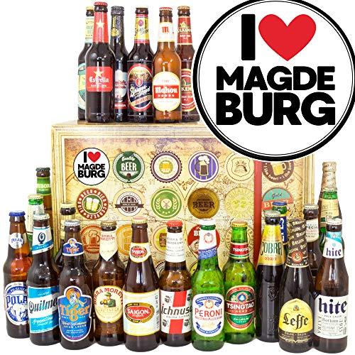I love Magdeburg/Magdeburg Geschenk / 24 Biere aus der Welt/Advent Kalender Bier