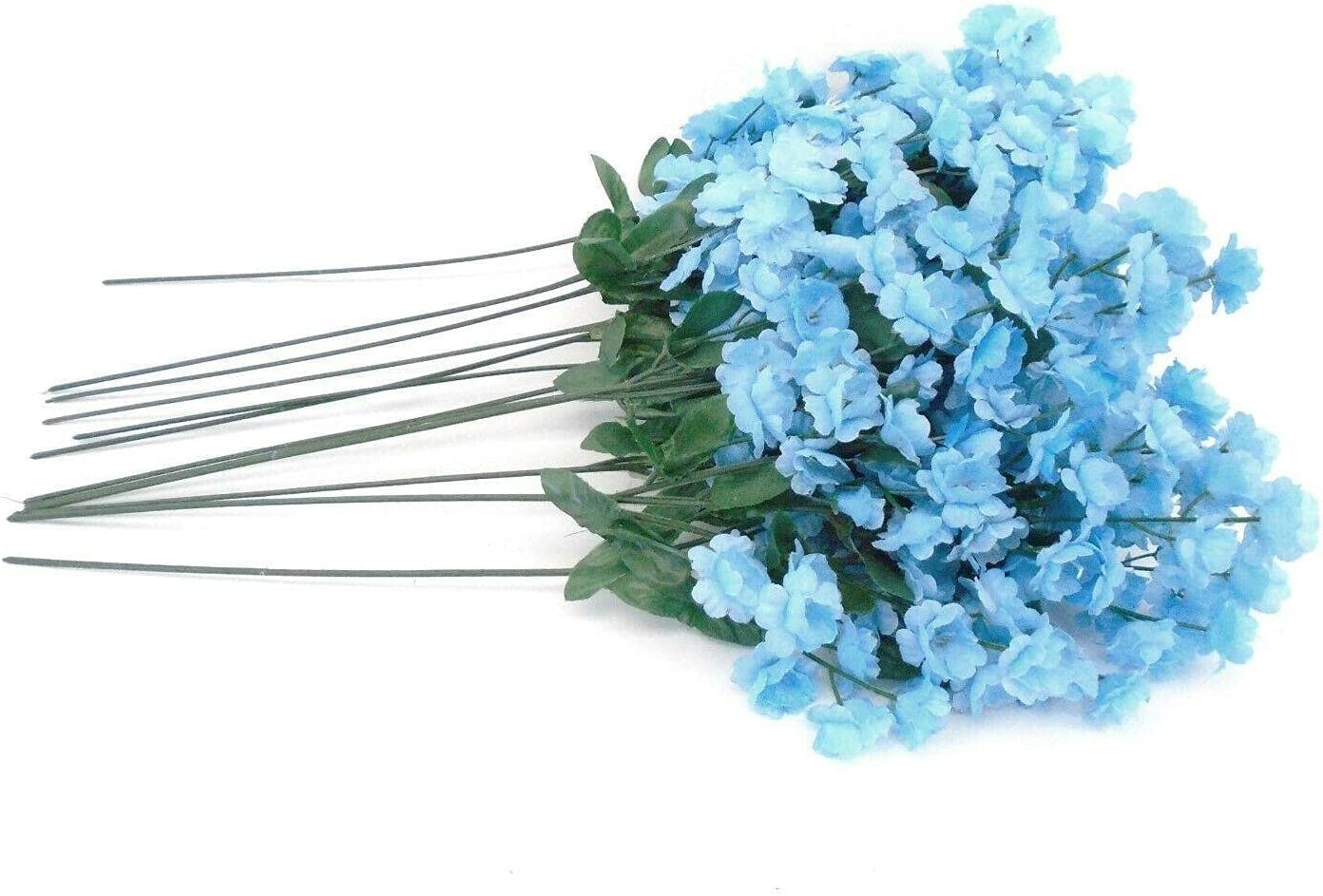 12 s Blue Discount Max 65% OFF mail order Gypsophila Filler Decora Artificial 15