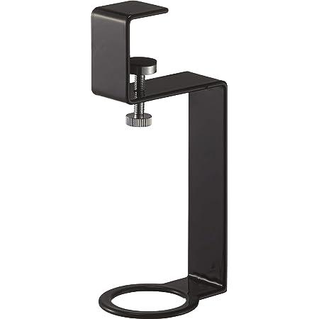 山崎実業(Yamazaki) 洗面戸棚下ディスペンサーホルダー ブラック 約W4.5XD6XH15.7cm タワー 浮かせて収納 衛生的 5005