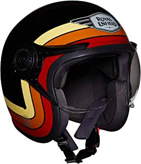 Royal Enfield Gloss Black Open Face with Visor Helmet Size (M)58 CM (RRGHEI000110)