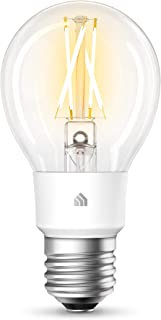 Kasa Smart Wi-Fi LED Bulb by TP-Link, Filament A19 E26 Smart Light Bulb, Soft White 2700K, Dimmable, No Hub Required, Comp...