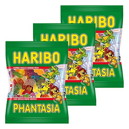 Haribo Phantasia, 3er Set, Fantasia, Fruchtgummi, Weingummi, Gummibärchen, Beutel à 200 g