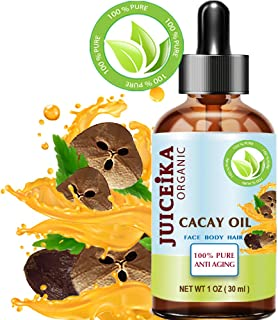 CACAY OIL 100% Pure Natural Virgin Unrefined Anti Aging Anti Wrinkle with natural Retinol, Vitamin A, E for FACE, HAIR, BODY and NAILS CARE 1 Fl.oz.- 30 ml by Juiceika