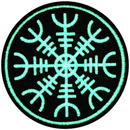 Aegishjalmr Viking El timón de la protección del terror del temor Resplandor