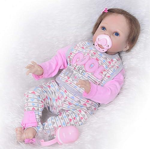 UBTY  ne Deine Augen Baby Doll mädchen Weiß Silikon Vinyl Magnetisch Kinder Spielzeug 22 inch 55cm Reborn Babypuppen