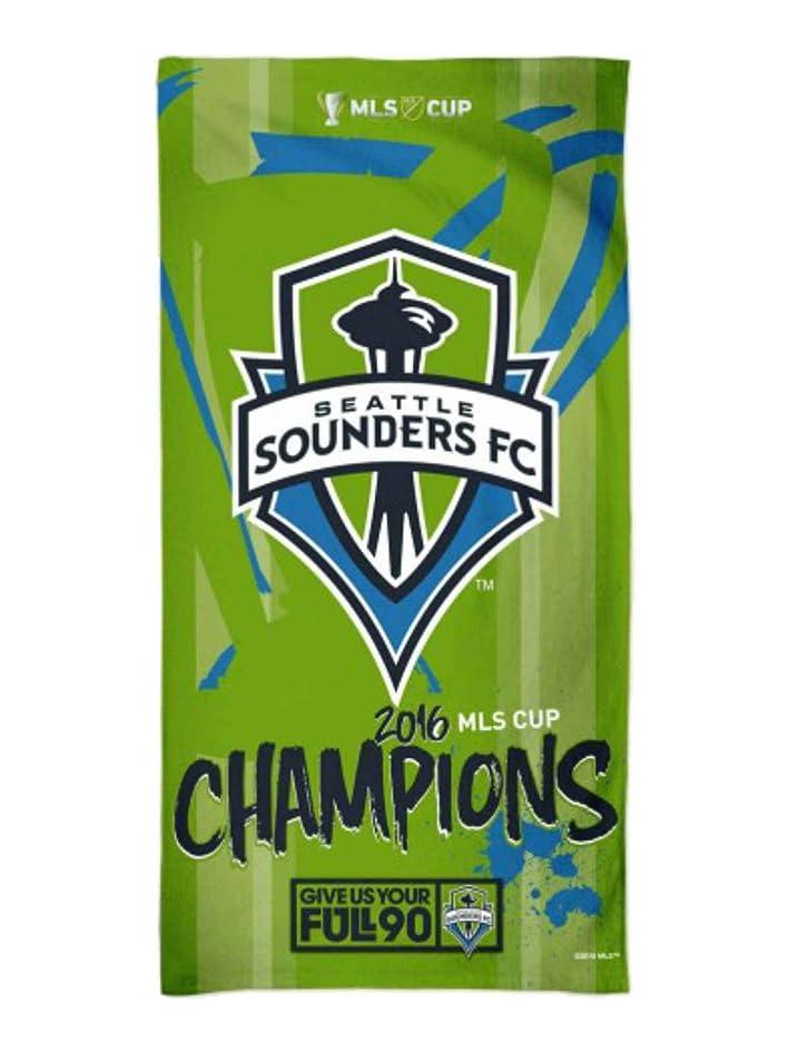 アジャスローガン日の出Seattle Sounders FC 2016?MLSカップChampions Spectraビーチタオル(30?