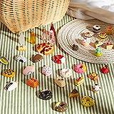50 Alimentos en Miniatura de Juguete de Casa Muñecas Mini Alimentos Bebidas Escala 1:12 Juguetes Comida Cocina Accesorios Cocina en Miniatura Set de Comida y Vajilla (Serie Vívida)