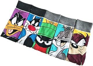 Looney Tunes - Calcetines de fantasía para hombre, talla única, 39-45 y mujer 34-40