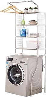 3-Tier Shelf Over The Toilet/Washing Machine, Bathroom Organizer Storage Rack Adjustable Height & Width